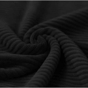Brede Ribfluweel Zwart
